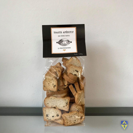 Mini Toasts aux Olives Noires