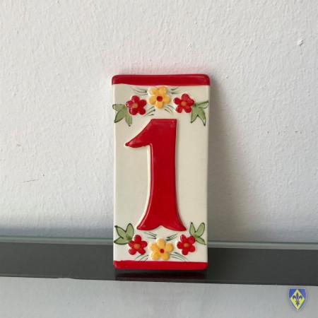 Numéro 1 de Plaque Rouge
