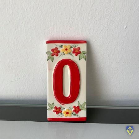 Numéro 0 de Plaque Rouge