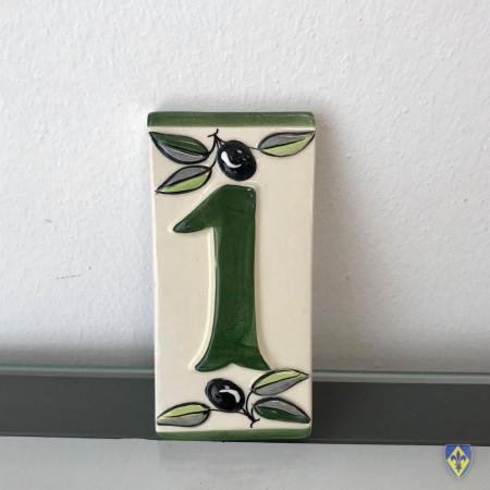 Numéro 1 de Plaque Verte