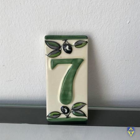 Numéro 7 de Plaque Verte