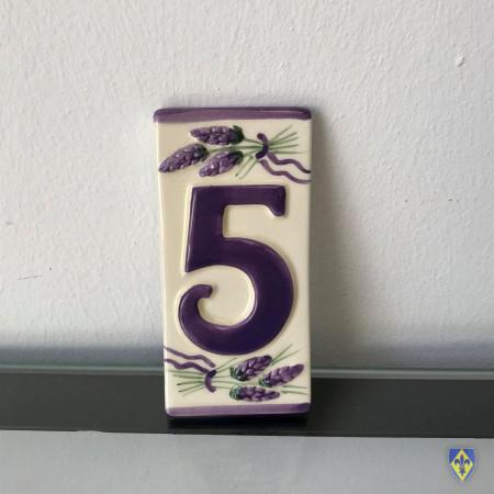 Numéro 5 de Plaque Violette