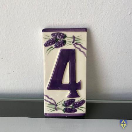 Numéro 4 de Plaque Violette