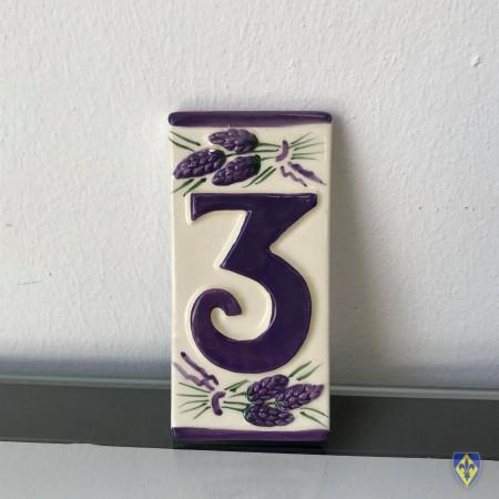 Numéro 3 de Plaque Violette