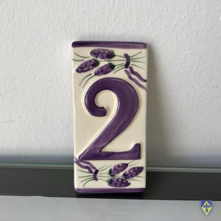 Numéro 2 de Plaque Violette