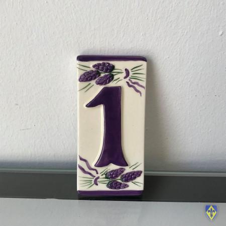 Numéro 1 de Plaque Violette